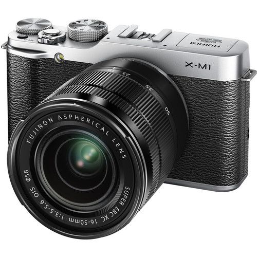 Fujifilm X-M1 Mirrorless Digital Camera with Black XC 16-50mm f/3.5-5.6 OIS Lens (Silver)