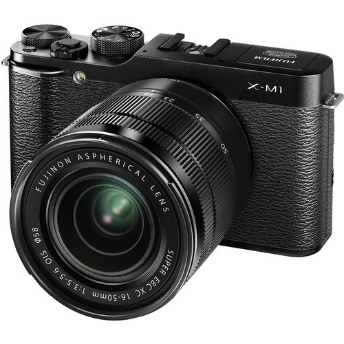 Fujifilm X-M1 Mirrorless Digital Camera with Black XC 16-50mm f/3.5-5.6 OIS Lens (Black)