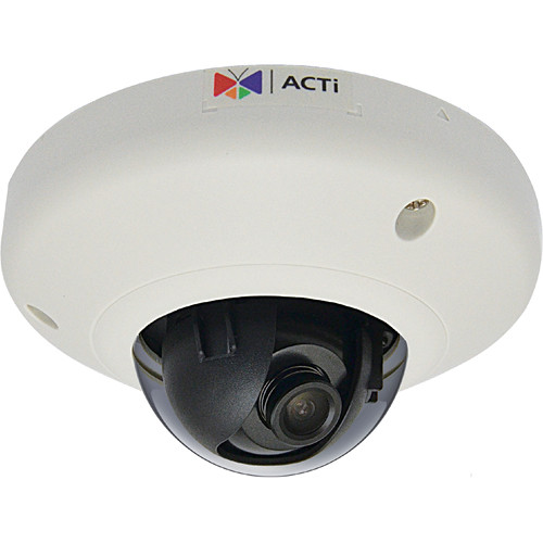 ACTi E96 5 Mp WDR Vandal-Resistant Indoor Mini Fisheye Dome Camera (NTSC)
