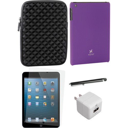Xuma Snap-on Case for iPad mini with Accessories Kit (Purple)