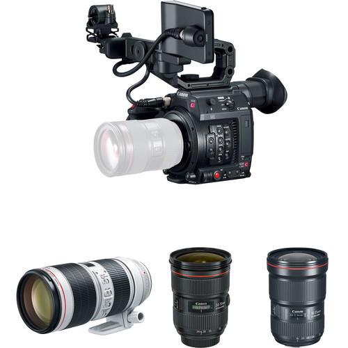 Compare Sony A7S II vs Canon C200 vs Canon C300 Mark II vs Canon