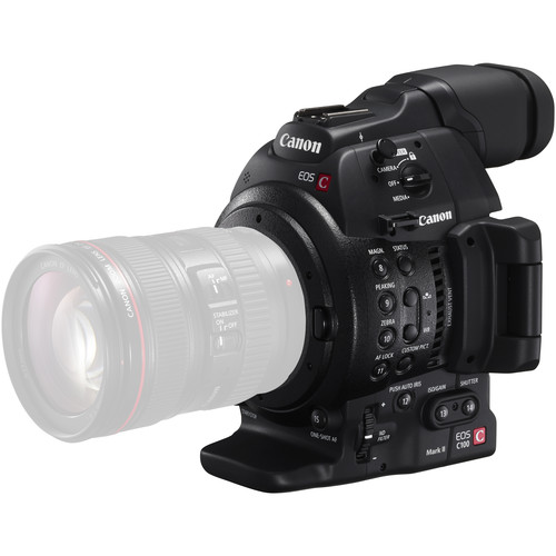 Compare Canon C200 vs Canon C100 Mark II vs Canon 1D X Mark II