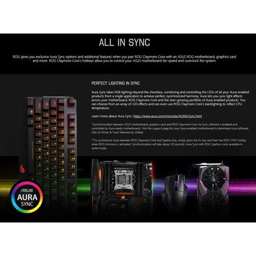 ASUS Republic of Gamers Claymore Backlit Mechanical Keyboard