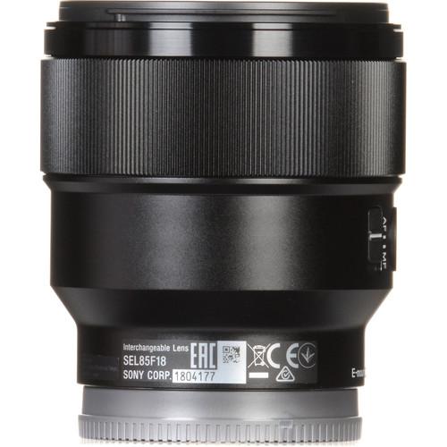 Sony FE 85mm f/1 8 Lens