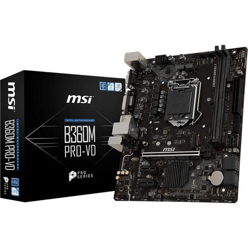 Compare MSI B360M Pro-VD vs MSI B360M Pro-VH vs MSI B360M