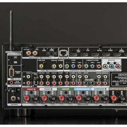Compare Denon AVR-X2600H 7 2-Channel Network A V Receiver vs