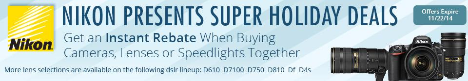 Nikon Presents Super Holiday Deals