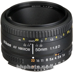 Nikon Normal AF Nikkor 50mm f/1.8D Autofocus Lens