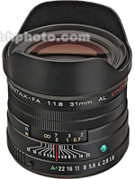BlackPentax Wide Angle SMCP-FA 31mm f/1.8 AL Limited Autofocus Lens Ltd
