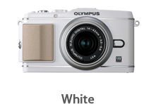 Olympus E-P3 with 14-42mm Lens (white)