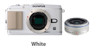 Olympus E-P3 with 17mm Lens (white)