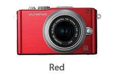 Olympus E-PL3 with 14-42mm Lens (red)