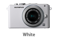 Olympus E-PL3 with 14-42mm Lens (white)