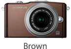Olympus E-PM1 with 14-42mm Lens (brown)