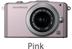 Olympus E-PM1 with 14-42mm Lens (pink)