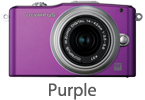 Olympus E-PM1 with 14-42mm Lens (purple)