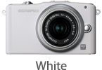 Olympus E-PM1 with 14-42mm Lens (white)