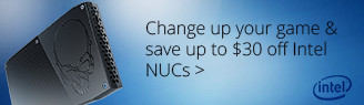 Change Your Game, Save $30 on Intel NUC