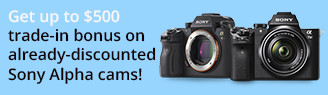 Trade-In and Shop Discounts on Sony a9