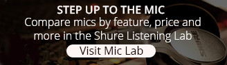 Hear Sound Bites from Shure Microphones