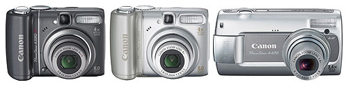 Canon's PowerShot A590 IS, A580, and A470