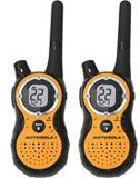 Motorola 8500R Talkabout 2-Way Radios - Pair - with NiMH Batteries & Chargers - Orange