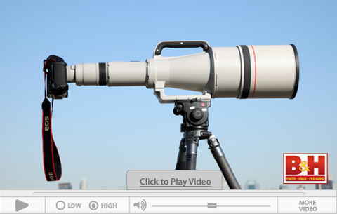 B&H video featuring the Canon EF 1200mm f/5.6 L USM Lens